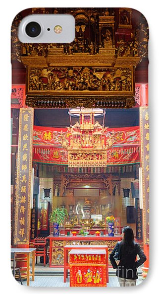 Rich Decoration In Chinese Temple - Sze Yah Temple - Kuala Lumpur - Malaysia Phone Case by David Hill