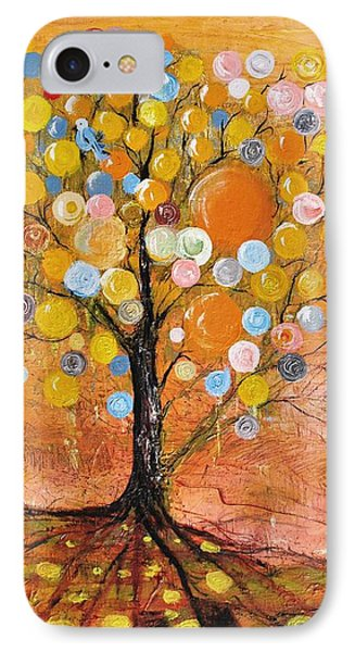 IPhone Case featuring the painting Rich Tree by Evelina Popilian