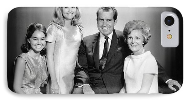 Richard Nixon And Family IPhone Case by Underwood Archives