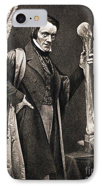 Richard Owen And Moa Leg Fossil IPhone Case by Paul D. Stewart