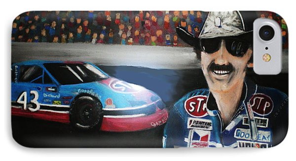 Richard Petty And Stp #43 Car IPhone Case by Shannon Gerdauskas