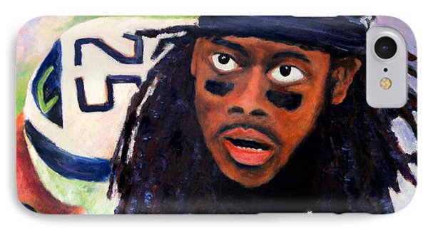 Richard Sherman Phone Case by Marti Green