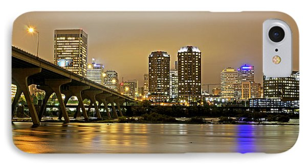 Richmond Virginia From The James River At Night IPhone Case