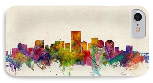 Richmond Virginia Skyline IPhone Case by Michael Tompsett