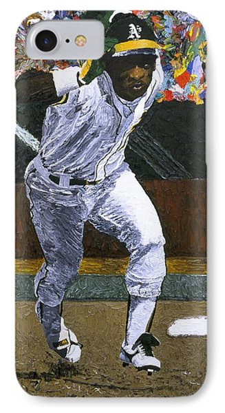Rickey Henderson Phone Case by Mike Rabe
