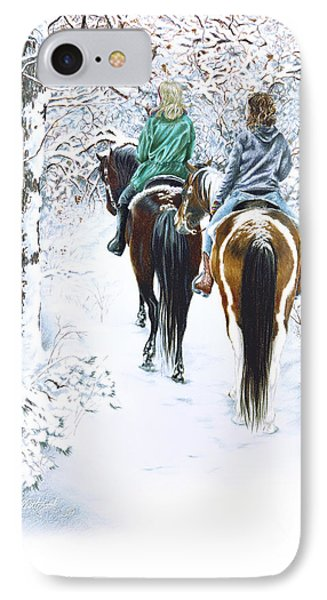 Ride Into Faerieland Phone Case by Jill Westbrook