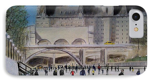 Rideau Canal Winterlude Phone Case by John Lyes