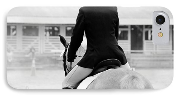 Rider In Black And White Phone Case by Jennifer Ancker