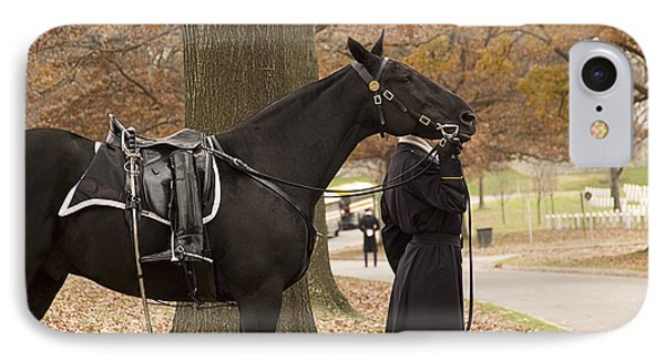 Riderless Horse IPhone Case by Terry Rowe
