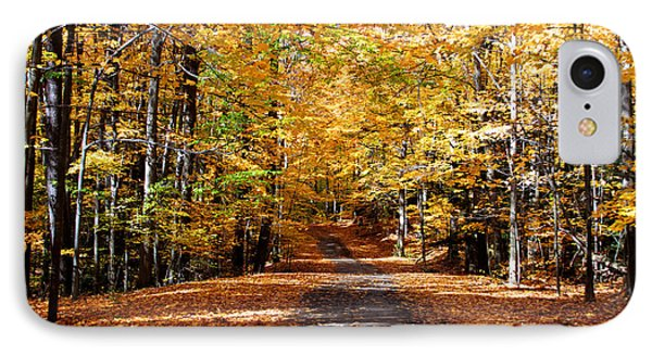 IPhone Case featuring the photograph Ridge Road In Fall by John Freidenberg