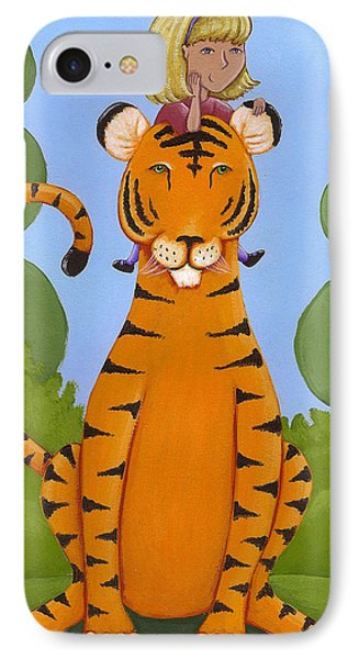 Riding A Tiger Phone Case by Christy Beckwith
