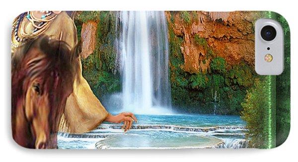 IPhone Case featuring the digital art Riding By Havasu Falls  - Digital Art By Giada Rossi by Giada Rossi