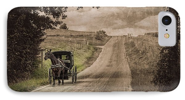 Riding Down A Country Road IPhone Case by Tom Mc Nemar