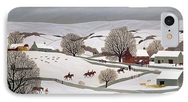 Riding In The Snow IPhone Case by Vincent Haddelsey