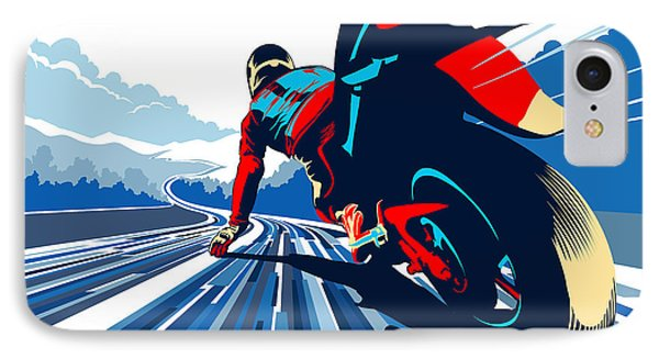 Motorcycle iPhone 7 Case - Riding On The Edge by Sassan Filsoof