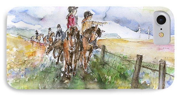 Riding Out Phone Case by Barbara Pommerenke