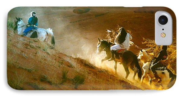 Riding Up The Ear Of The Wind IPhone Case by Lane Baxter