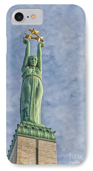 Riga Freedom Monument 04 Phone Case by Antony McAulay