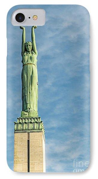 Riga Freedom Monument Phone Case by Antony McAulay