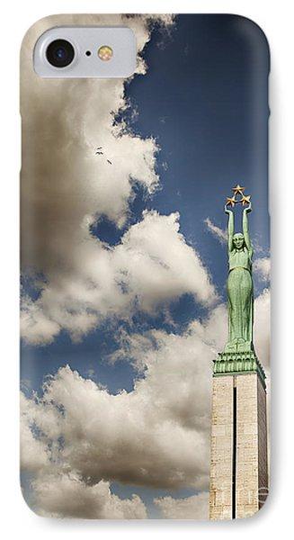 Riga Freedom Monument Phone Case by Sophie McAulay