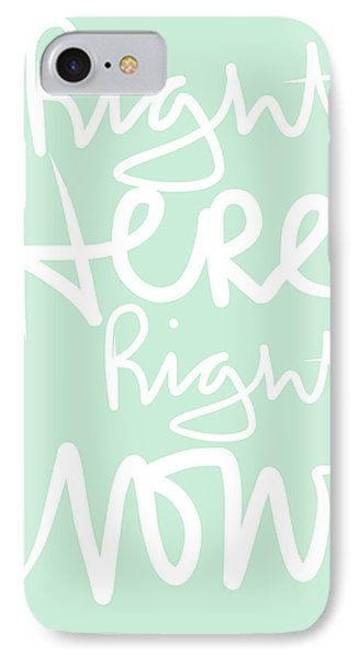 Right Here Right Now IPhone Case