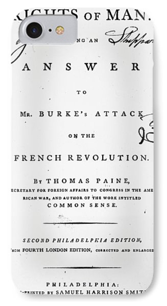 Rights Of Man, 1791 IPhone Case