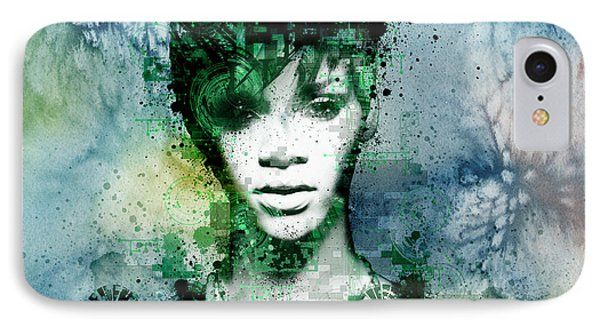 Rihanna 4 IPhone Case by Bekim Art