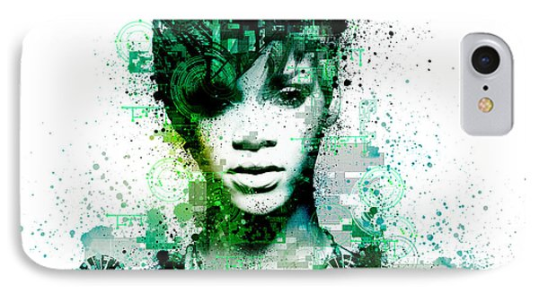 Rihanna 5 IPhone Case by Bekim Art