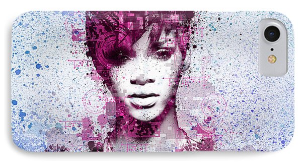 Rihanna 8 IPhone Case by Bekim Art