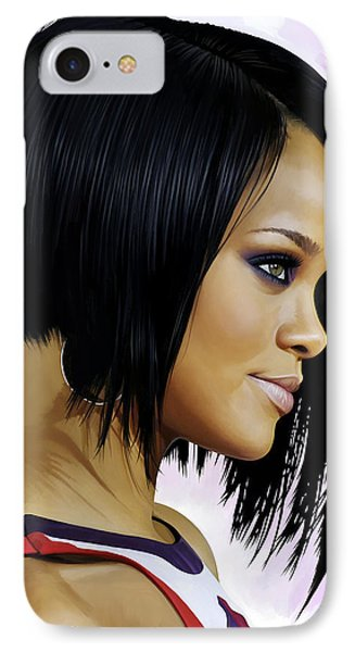Rihanna Artwork IPhone Case by Sheraz A
