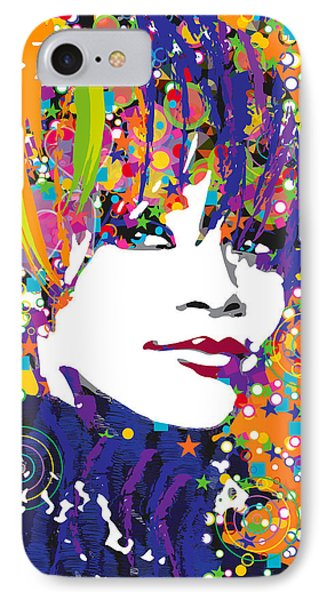 Rihanna In Blue IPhone Case by Irina Effa