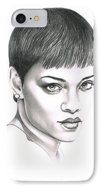 Rihanna IPhone Case by Murphy Elliott