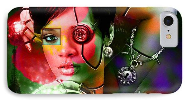 Rihanna Over Rihanna Phone Case by Marvin Blaine