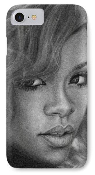 Rihanna Pencil Drawing IPhone Case