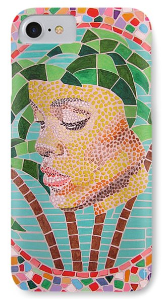 Rihanna Portrait Painting In Mosaic  Phone Case by Jeepee Aero