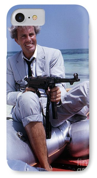 Rik Van Nutter On A Raft On The Set Of Thunderball IPhone Case by The Harrington Collection