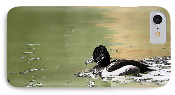 IPhone Case featuring the photograph Ring-neck Duck by Ludwig Keck