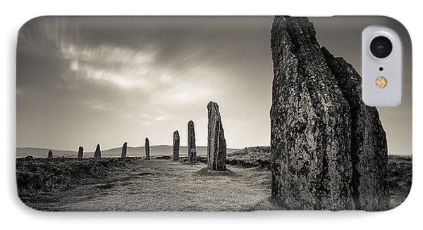 Ring Of Brodgar IPhone Case by Dave Bowman