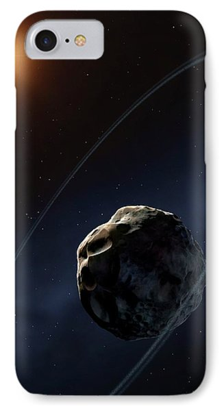 Ringed Asteroid Chariklo IPhone Case by Mark Garlick