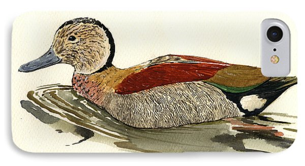Ringed Teal IPhone Case