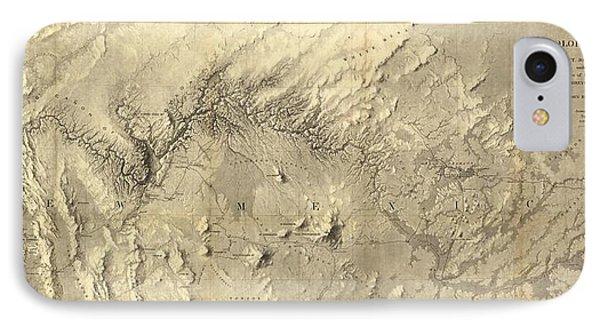 Rio Colorado Of The West Antique Map - 1858 IPhone Case