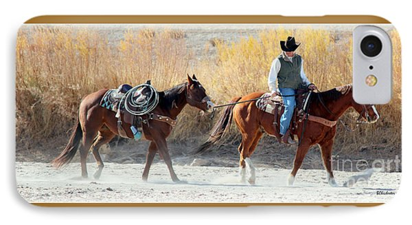 Rio Grande Cowboy Phone Case by Barbara Chichester