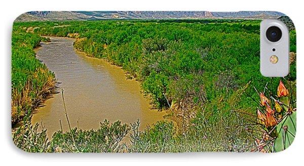 Rio Grande East Of Santa Elena Canyon In  Big Bend National Park-texas IPhone Case