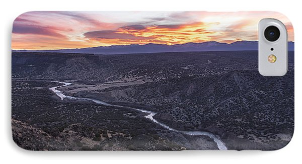 Rio Grande River Sunrise - White Rock New Mexico IPhone Case by Brian Harig