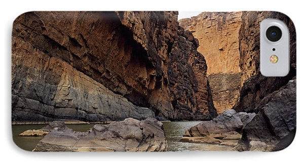 Rio Grande Winding Through Santa Elena IPhone Case by Panoramic Images