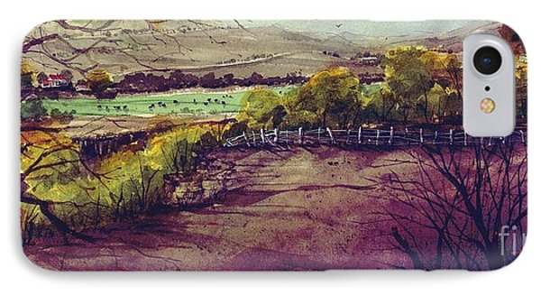 IPhone Case featuring the painting Rio Penasco Ranch by Tim Oliver