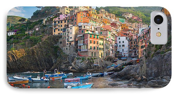 Riomaggiore Boats IPhone Case by Inge Johnsson