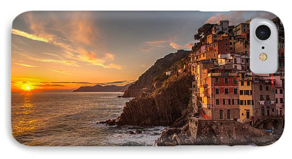 Riomaggiore Rolling Waves IPhone Case by Mike Reid