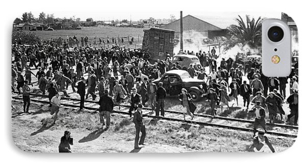 Riots At Cannery Strike IPhone Case by Underwood Archives