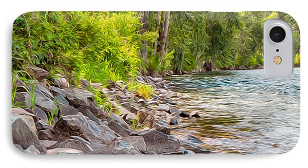 Rip Rap On The Methow River Phone Case by Omaste Witkowski